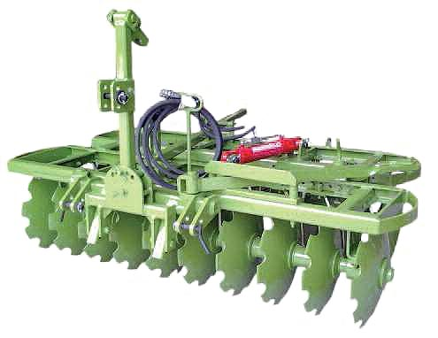 Mounted trailed two-section stubble disc harrow - pulverizer