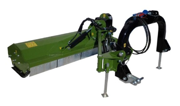 Shredder-chopper for compact tractors with flails for medium pruning with hydraulic cylinders