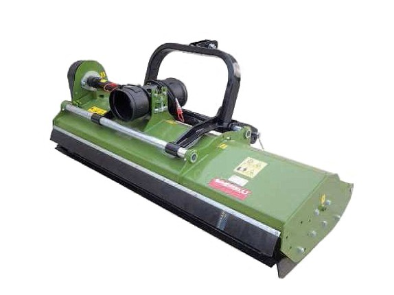 Flail mowers with reversible double hitch for pruning limbs of up to 8 cm in diameter with side skids and reinforced body