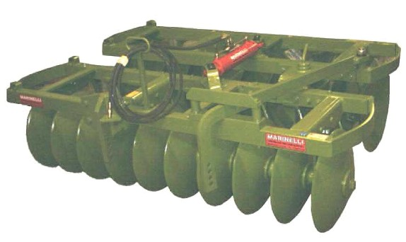 The Pulverizer disc harrows in the PDMG Giant series are also called stubble-breakers or hardpan fracture harrows